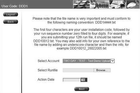 File Upload Debit Order System